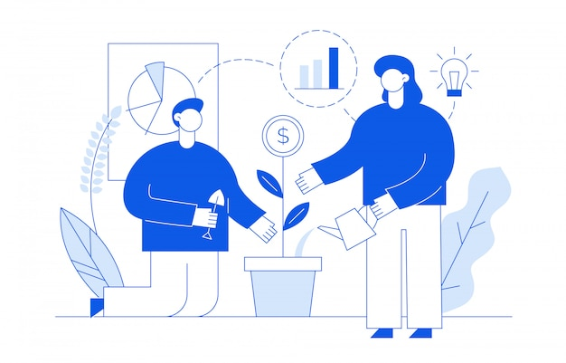Concept financier avec des gens