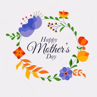 Concept floral de la fête des mères