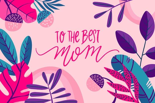 Concept floral international de la fête des mères