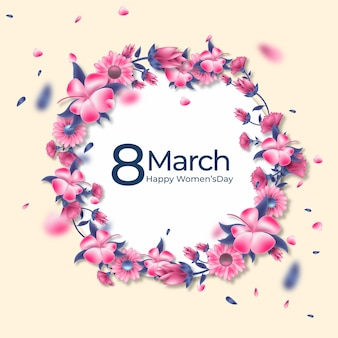 Concept floral de la journée des femmes