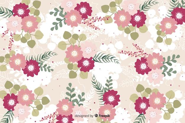 Concept floral pour la conception de fond