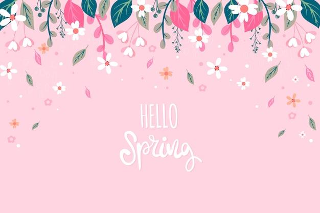 Concept floral printemps bonjour