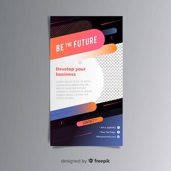 Concept de flyer d'entreprise moderne