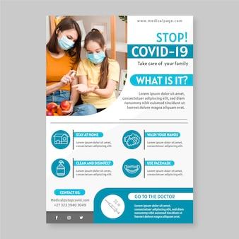 Concept de flyer informatif sur le coronavirus