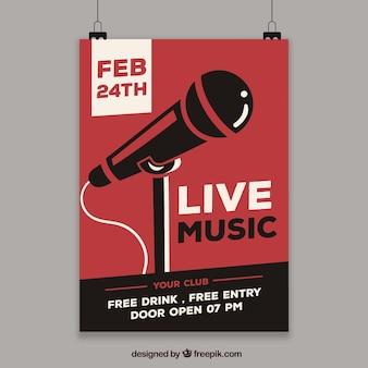 Concept de flyer pour la fête de la musique en direct
