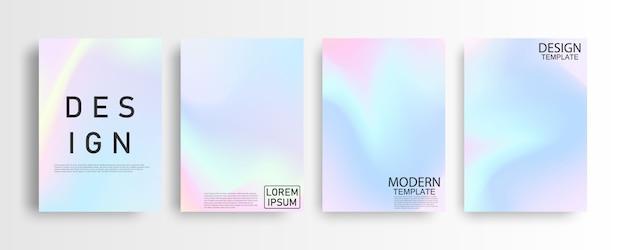 Concept de fond abstrait dégradé coloré pastel a4 pour votre conception graphique colorée, modèle de conception de mise en page pour brochure