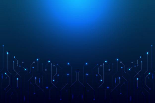 Concept de fond abstrait formes de motif linéaire et polygonal sur bleu foncé