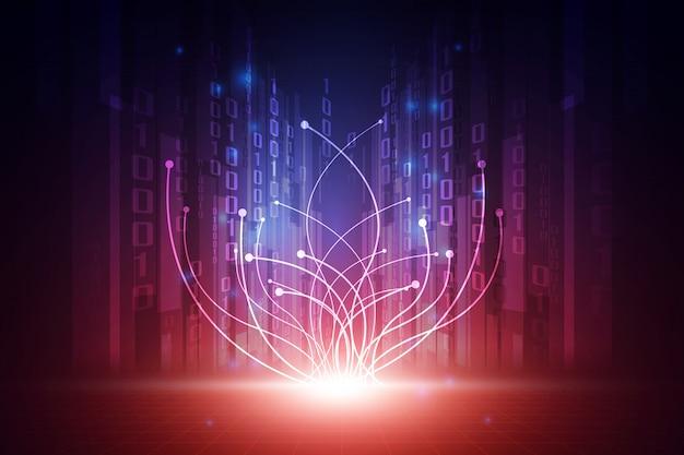 Concept de fond abstrait technologie futuriste de vecteur