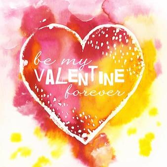 Concept de fond aquarelle saint valentin