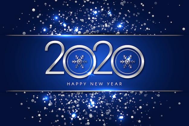 Concept de fond argent nouvel an 2020