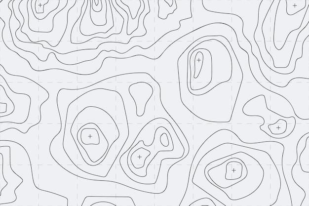 Concept de fond de carte topographique