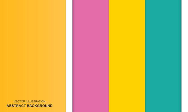 Concept de fond coloré abstrait moderne