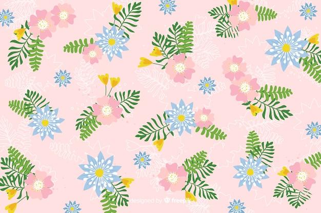 Concept de fond coloré floral