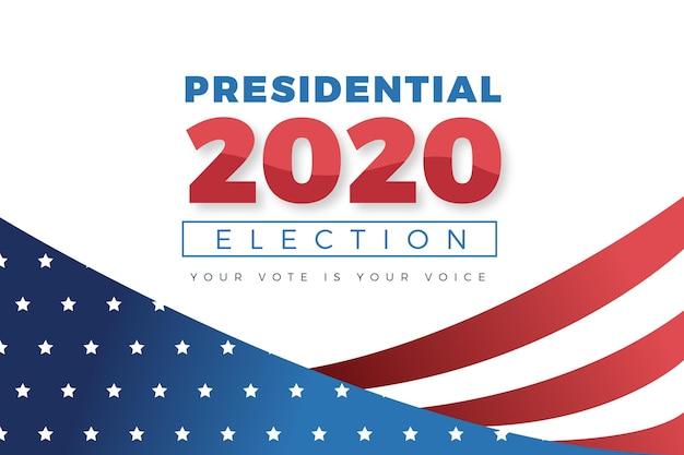 Concept de fond de l'élection présidentielle américaine 2020