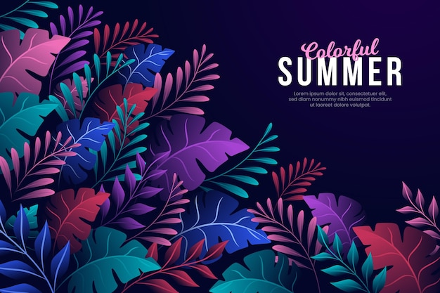 Concept de fond d'été coloré