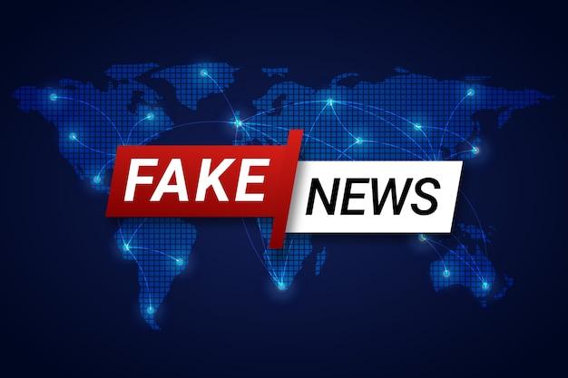 Concept de fond de fausses nouvelles
