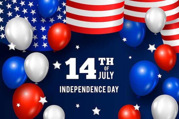 Concept de fond de fête de l'indépendance