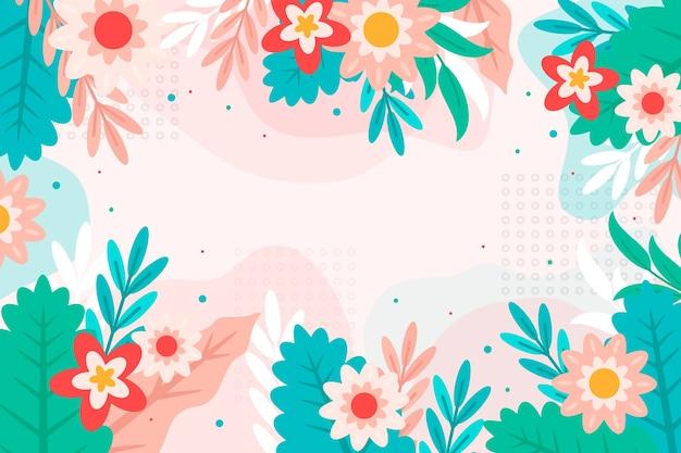 Concept de fond floral abstrait plat