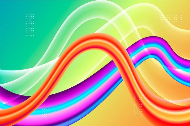Concept de fond de flux de couleur