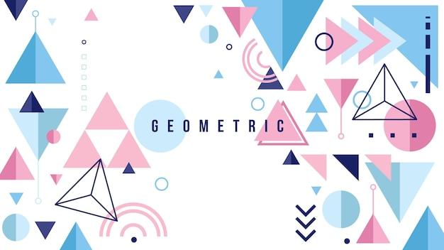 Concept de fond géométrique