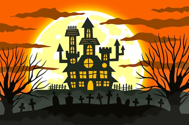 Concept de fond d'halloween heureux
