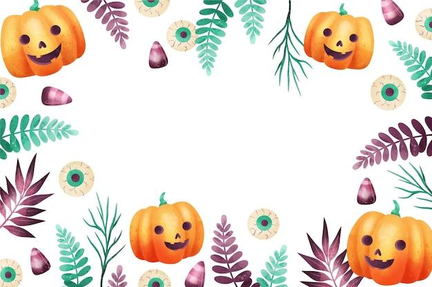 Concept De Fond D'halloween Heureux Vecteur gratuit