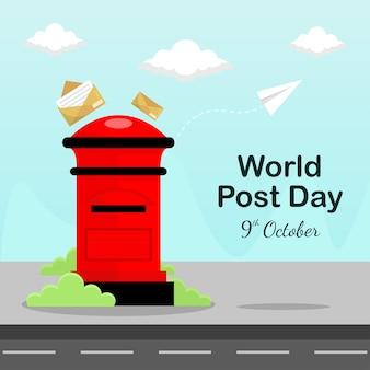 Concept de fond de la journée mondiale de la poste