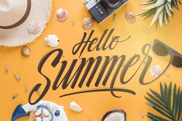 Concept de fond de lettrage d'été