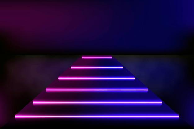 Concept de fond de lumières au néon résumé