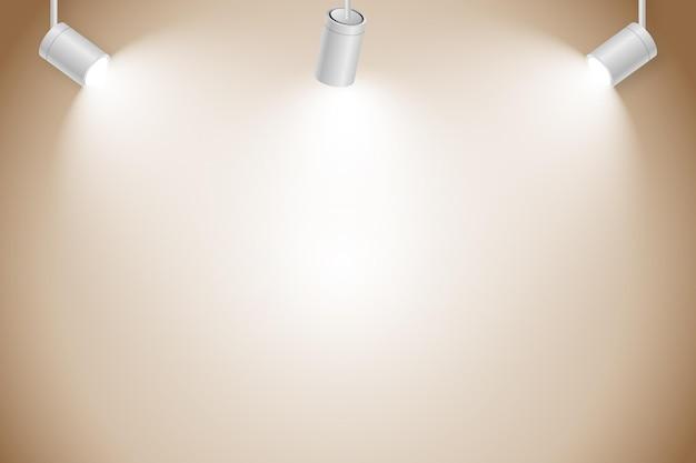 Concept de fond de lumières spot
