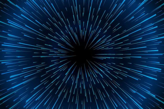 Concept de fond de lumières de vitesse