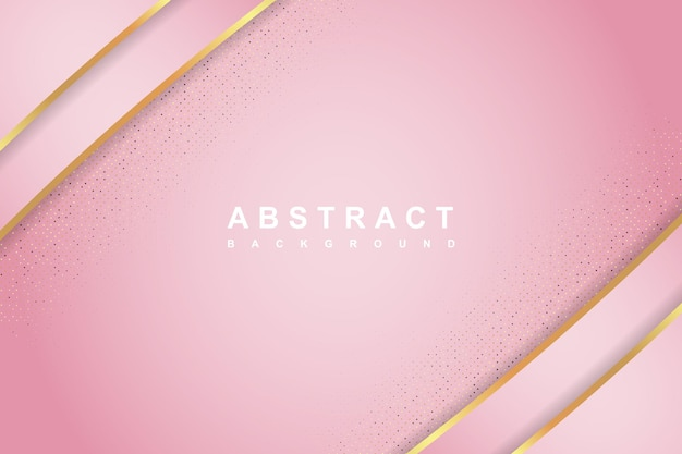Concept de fond de luxe rose élégant avec une texture brillante d'or et de paillettes