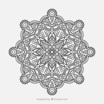 Concept de fond de mandala lineal