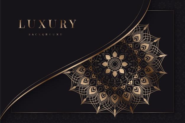 Concept de fond de mandala de luxe
