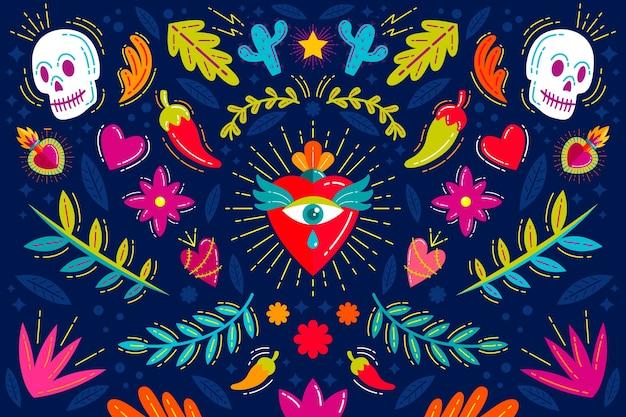 Concept de fond mexicain coloré