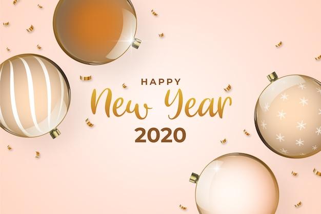 Concept de fond d'or nouvel an 2020