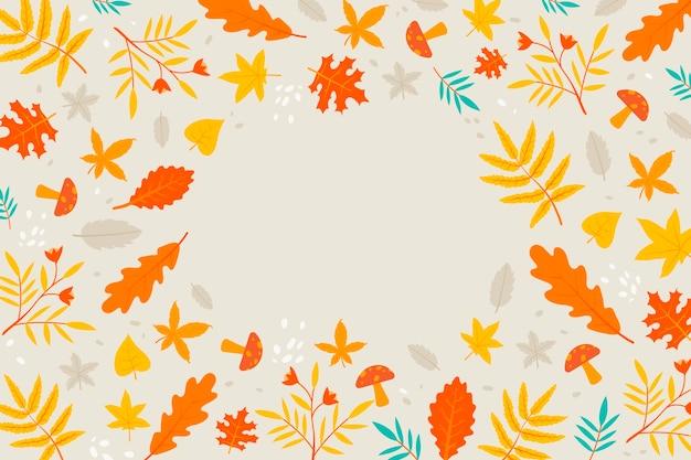Concept de fond plat automne