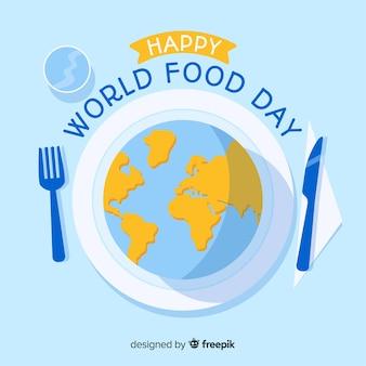 Concept de fond pour le jour de la nourriture du monde moderne