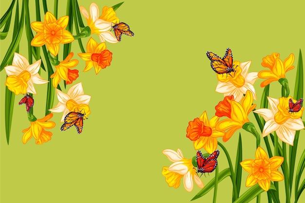 Concept de fond de printemps aquarelle