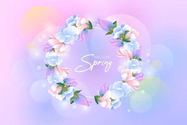 Concept de fond de printemps dessiné à la main