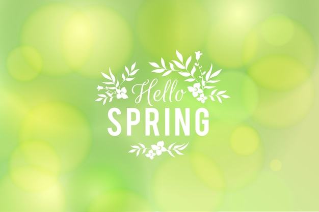 Concept de fond de printemps flou