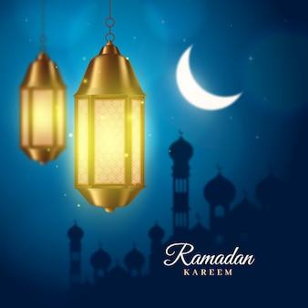 Concept de fond de ramadan réaliste