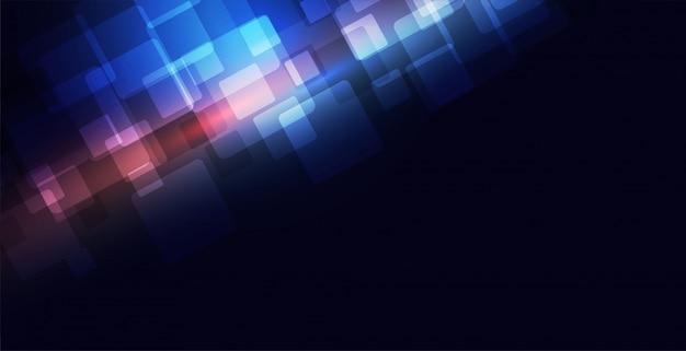 Concept de fond de technologie bleue avec espace de texte