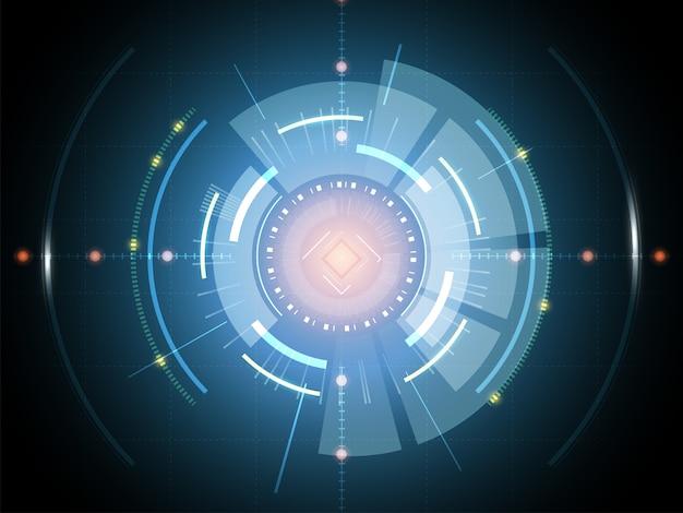 Concept de fond de technologie futuriste science-fiction