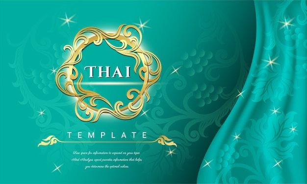 Concept de fond traditionnel thaïlandais.
