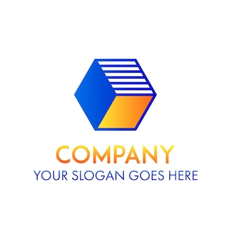 Concept de forme de logo entreprise entreprise cube