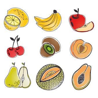 Concept de fruits frais biologiques