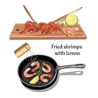 Concept de fruits de mer croquis coloré