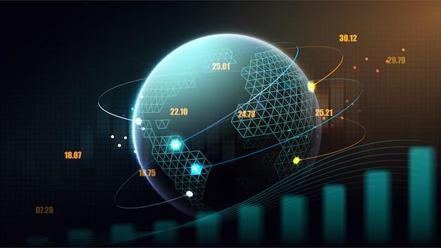 Concept futuriste de réseau mondial