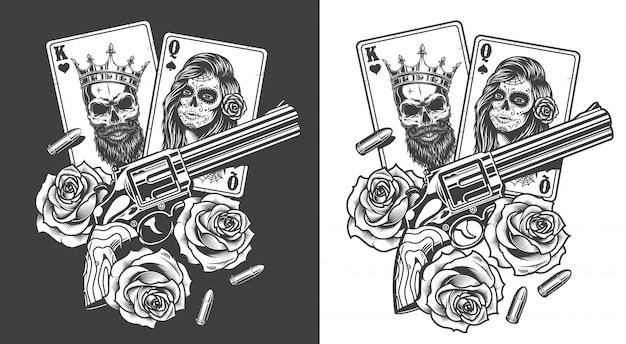 Concept de gangsta avec carte à jouer